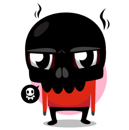Skullington Facebook sticker #23