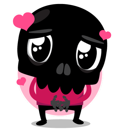 Skullington Facebook sticker #25
