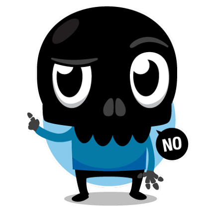 Skullington Facebook sticker #28