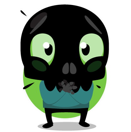 Skullington Facebook sticker #30