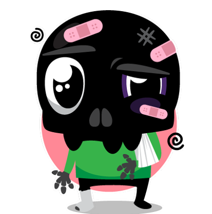 Skullington Facebook sticker #43