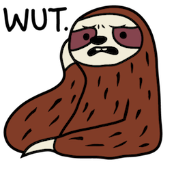 Facebook Sloth Party stickers