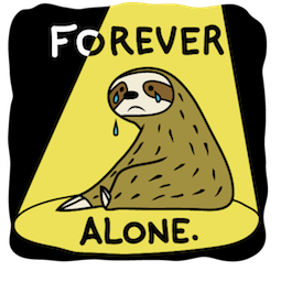 Sloth Party Facebook sticker #2
