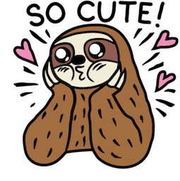 Sloth Party Facebook sticker #4
