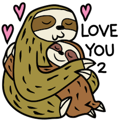 Sloth Party Facebook sticker #5