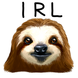 Sloth Party Facebook sticker #6