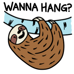 Sloth Party Facebook sticker #7