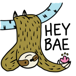 Sloth Party Facebook sticker #9
