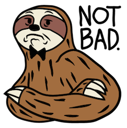 Sloth Party Facebook sticker #10
