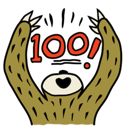 Sloth Party Facebook sticker #14