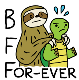 Sloth Party Facebook sticker #15
