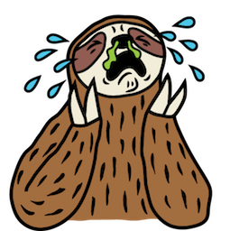 Sloth Party Facebook sticker #18