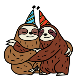 Sloth Party Facebook sticker #19