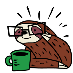 Sloth Party Facebook sticker #20