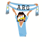 Soccer Scarves (A-F) Facebook sticker #4