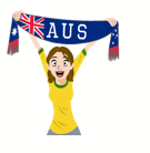 Soccer Scarves (A-F) Facebook sticker #5