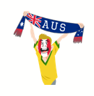 Soccer Scarves (A-F) Facebook sticker #6