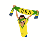 Soccer Scarves (A-F) Facebook sticker #12