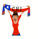 Soccer Scarves (A-F) Facebook sticker #13