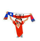 Soccer Scarves (A-F) Facebook sticker #14