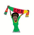 Soccer Scarves (A-F) Facebook sticker #17