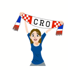 Soccer Scarves (A-F) Facebook sticker #23