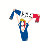 Soccer Scarves (A-F) Facebook sticker #32