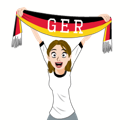 Soccer Scarves (G-U) Facebook sticker #2