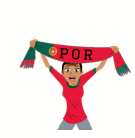 Soccer Scarves (G-U) Facebook sticker #24