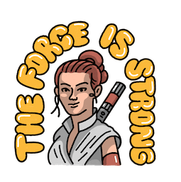 Star Wars: El ascenso de Skywalker Facebook sticker #17