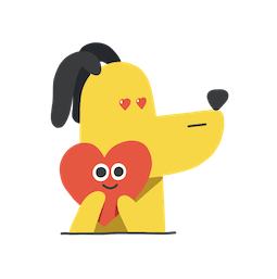 Long toutou Facebook sticker #2