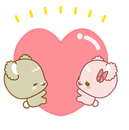 Facebook Sugar Cubs in Love stickers