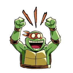Sticker de Facebook / Messenger Tortues Ninja #9