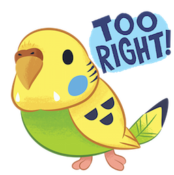Tweet Tweet-Sittich Facebook sticker #16