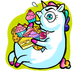 Facebook / Messenger Ulysses S. Unicorn sticker #3