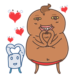 Unchi & Rollie Facebook sticker #10