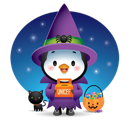 Waddles Halloween Facebook sticker #2
