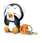Waddles Halloween Facebook sticker #6