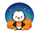 Waddles Halloween Facebook sticker #16