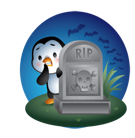 Waddles Halloween Facebook sticker #24