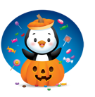 Waddles Halloween Facebook sticker #25