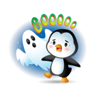 Waddles Halloween Facebook sticker #27