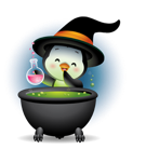 Waddles Halloween Facebook sticker #29