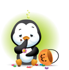 Waddles Halloween Facebook sticker #37