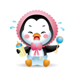 Waddles Halloween Facebook sticker #40