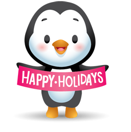Facebook Waddles Holiday stickers