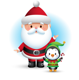 Facebook sticker Waddles Holiday 3