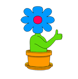 Facebook / Messenger Wild flowers Sticker #8