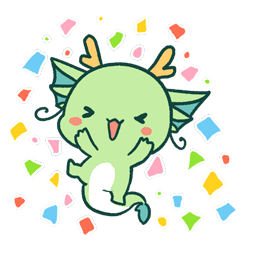 Dragon relax Facebook sticker #5