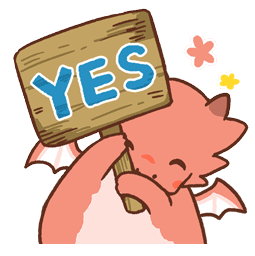 Dragon relax Facebook sticker #7